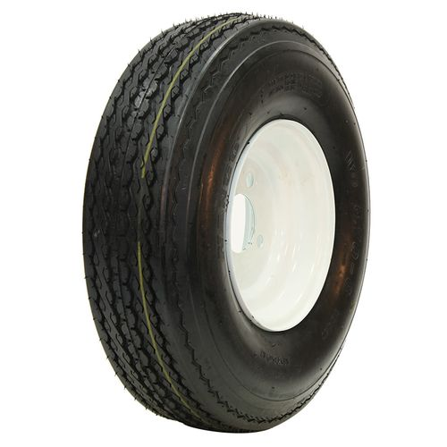 Power King O.E.M. White Tire/Wheel Assembly - LP Tire 18.5/8.5--8 FAW18