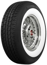 587030 P215/75R15 American Classic Wide Whitewall Radial Coker