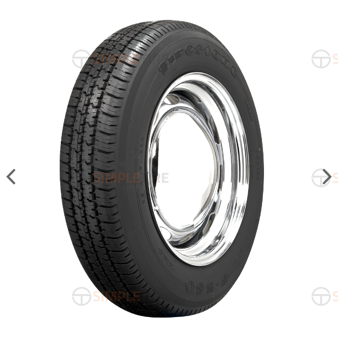 55597 P135/R15 Firestone Radial F560 Coker