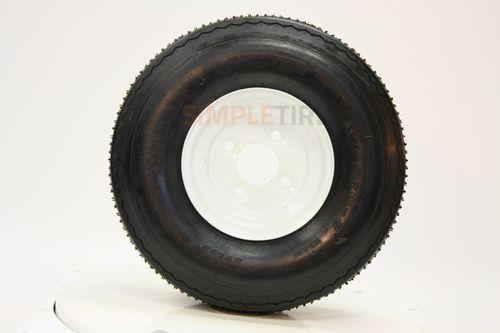 Power King O.E.M. White Tire/Wheel Assembly - LP Tire 20.5/8--10 FVW22