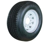 A14RWS 205/75R14 Provider ST205/75R14 14X6 5X4.5 White Spoke Assembly Taskmaster